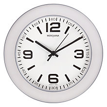 Buy Meridiana Plastic Wall Clock, Grey, Dia.26cm Online at johnlewis.com
