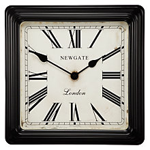 Buy Newgate Croupier's Clock, Dia.40cm, Black Online at johnlewis.com