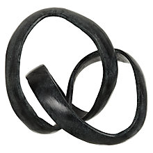 Buy John Lewis Knotted Form Sculpture, Black Online at johnlewis.com