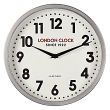 Buy London Clock Station Wall Clock, Silver, Dia.30cm Online at johnlewis.com
