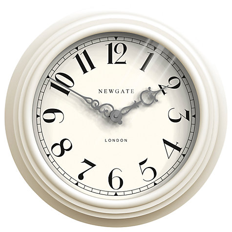 Buy Newgate Dormitory Clock, White Online at johnlewis.com