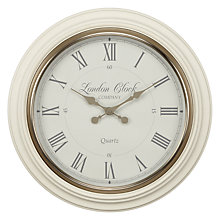 Buy LC Designs Classic Heritage Wall Clock, Cream Online at johnlewis.com