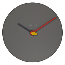Buy Newgate Glow Wall Clock, Dia.32cm, Grey Online at johnlewis.com