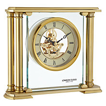 Buy London Clock 1922 Gold Column Skeleton Mantel Clock Online at johnlewis.com