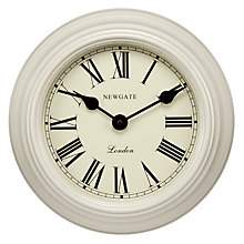 Buy Newgate Petite Gallery Clock, White Online at johnlewis.com
