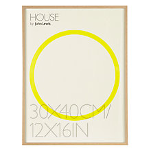 "Buy House by John Lewis Natural Wood Effect Photo Frame, 12 x 16"" (30 x 40cm) Online at johnlewis.com"