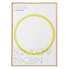 Buy House by John Lewis Natural Wood Effect Photo Frame, 50 x 70cm Online at johnlewis.com