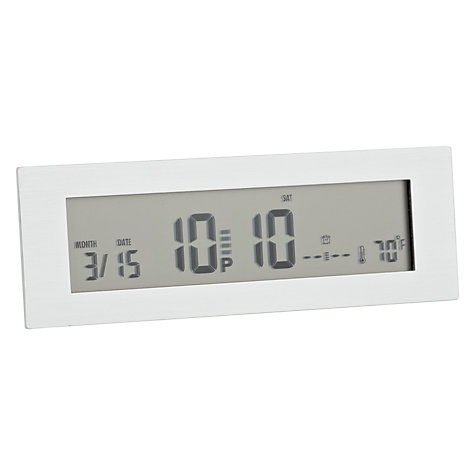 Buy Acctim Slim LCD Alarm Clock, Silver Online at johnlewis.com
