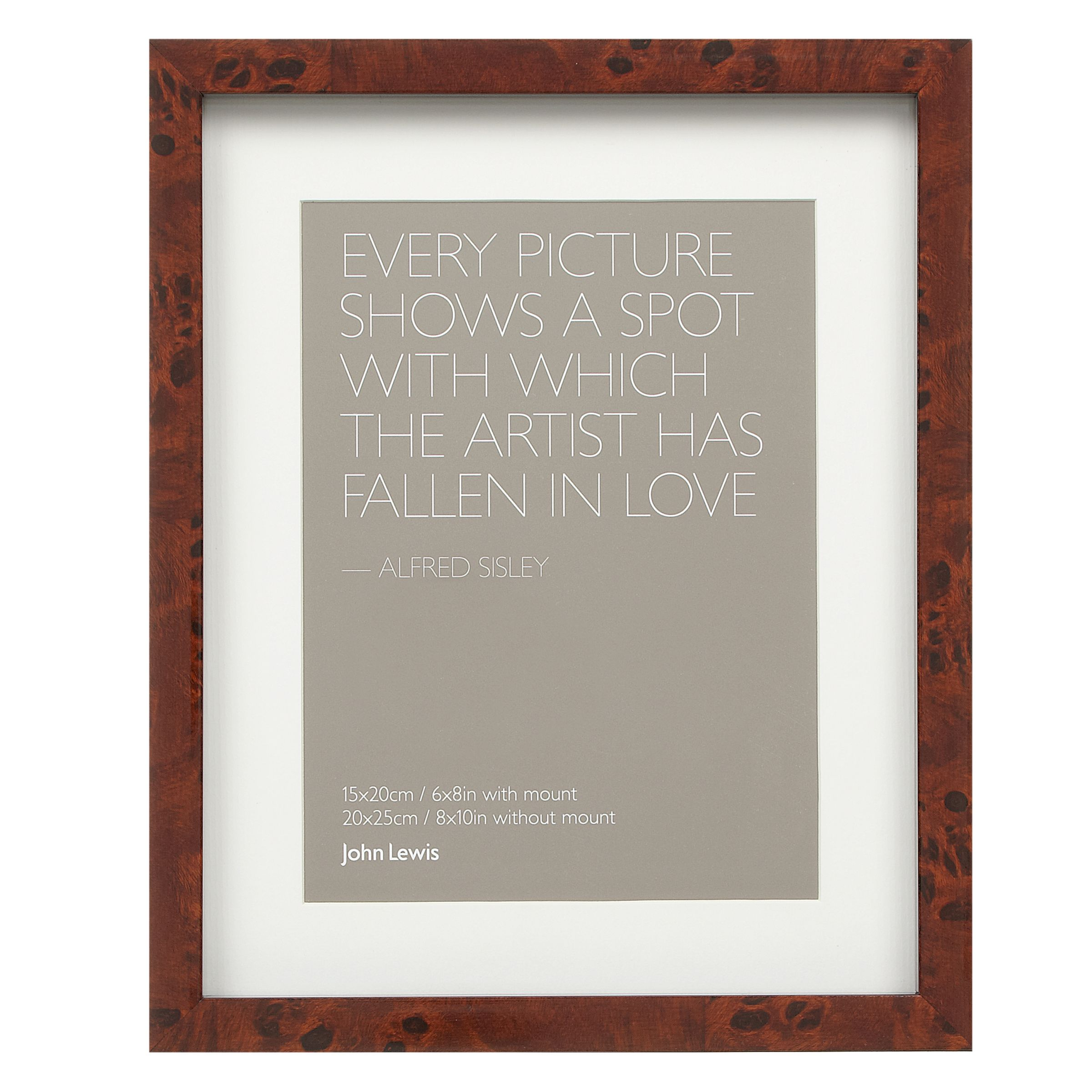 John Lewis Wedding Gift List Review : John Lewis Walnut Veneer Effect Photo Frame, 6 8