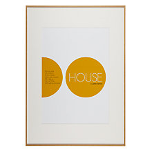 Buy House by John Lewis Natural Wood Photo Frame, A1 with A2 Mount Online at johnlewis.com