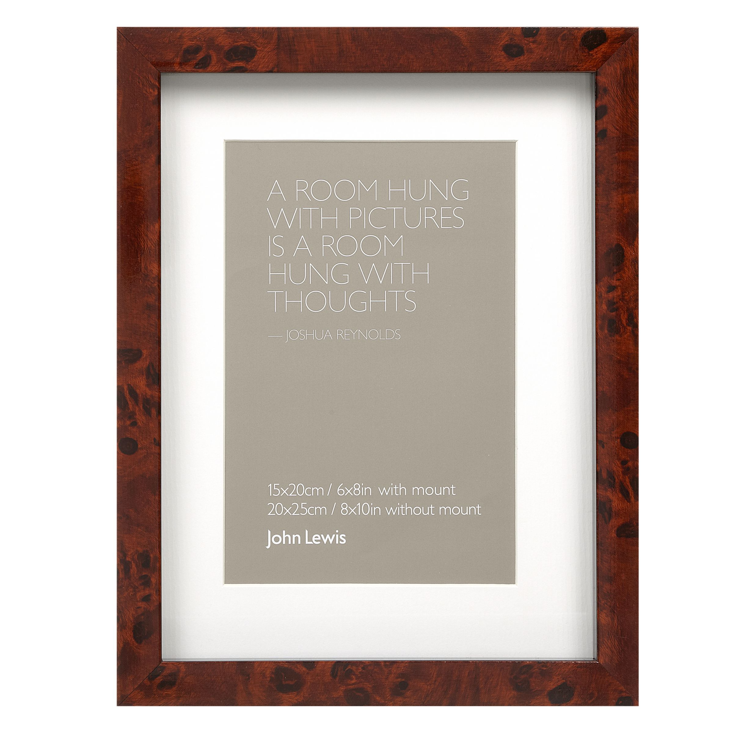 John Lewis Wedding Gift List Review : John Lewis Walnut Veneer Effect Photo Frame, 4 6