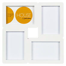 "Buy House by John Lewis 4-Photo Aperture Frame,  4 x 6"" (10 x 15cm) Online at johnlewis.com"
