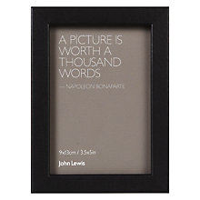 "Buy John Lewis Box with Mount Photo Frame, 3.5 x 5"" (9 x 13cm) Online at johnlewis.com"