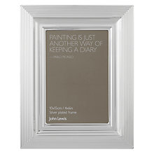 "Buy John Lewis Silverplated Rib Edge Photo Frame 4 x 6"" (10 x 15cm) Online at johnlewis.com"