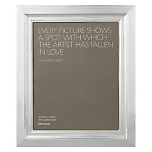"Buy John Lewis Silverplated Rib Edge Photo Frame, 8 x 10"" (20 x 25cm) Online at johnlewis.com"