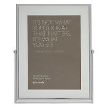 Buy John Lewis Silver Plated Photo Frame Online at johnlewis.com