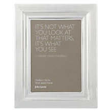 "Buy John Lewis Silverplated Rib Edge Photo Frame, 5 x 7"" (13 x 18cm) Online at johnlewis.com"