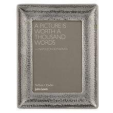 Buy John Lewis Pewter Hammered Metal Photo Frame Online at johnlewis.com