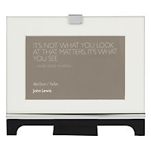 "Buy John Lewis Colchester Photo Frame, Black, 5 x 7"" (13 x 18cm) Online at johnlewis.com"