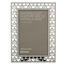 "Buy John Lewis Jewelled Photoframe, Silver, 4 x 6"" (10 x 15cm) Online at johnlewis.com"
