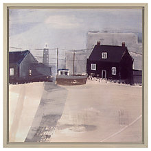 Buy Hannah Cole - Black Huts Dungeness Framed Print on Canvas, 54.3 x 54.3cm Online at johnlewis.com