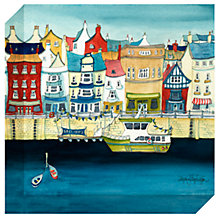 Buy Catherine Stephenson - Moored Up Print on Canvas, 30 x 30cm Online at johnlewis.com