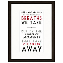 Buy East Of India Life Is Not Measured Framed Print, 43 x 33cm Online at johnlewis.com