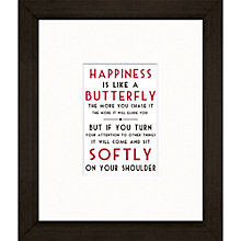 Buy East of India Happiness Is Framed Print, 27 x 23cm Online at johnlewis.com