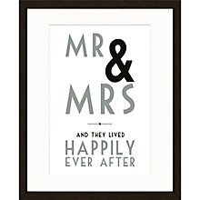 Buy East Of India Mr And Mrs Framed Print, 53 x 43cm Online at johnlewis.com