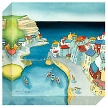 Buy Catherine Stephenson - Coastal Harbour Print on Canvas, 30 x 30cm Online at johnlewis.com