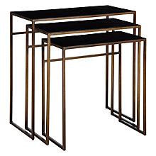 Buy Content by Terence Conran Black Enamel Nest of 3 Tables Online at johnlewis.com