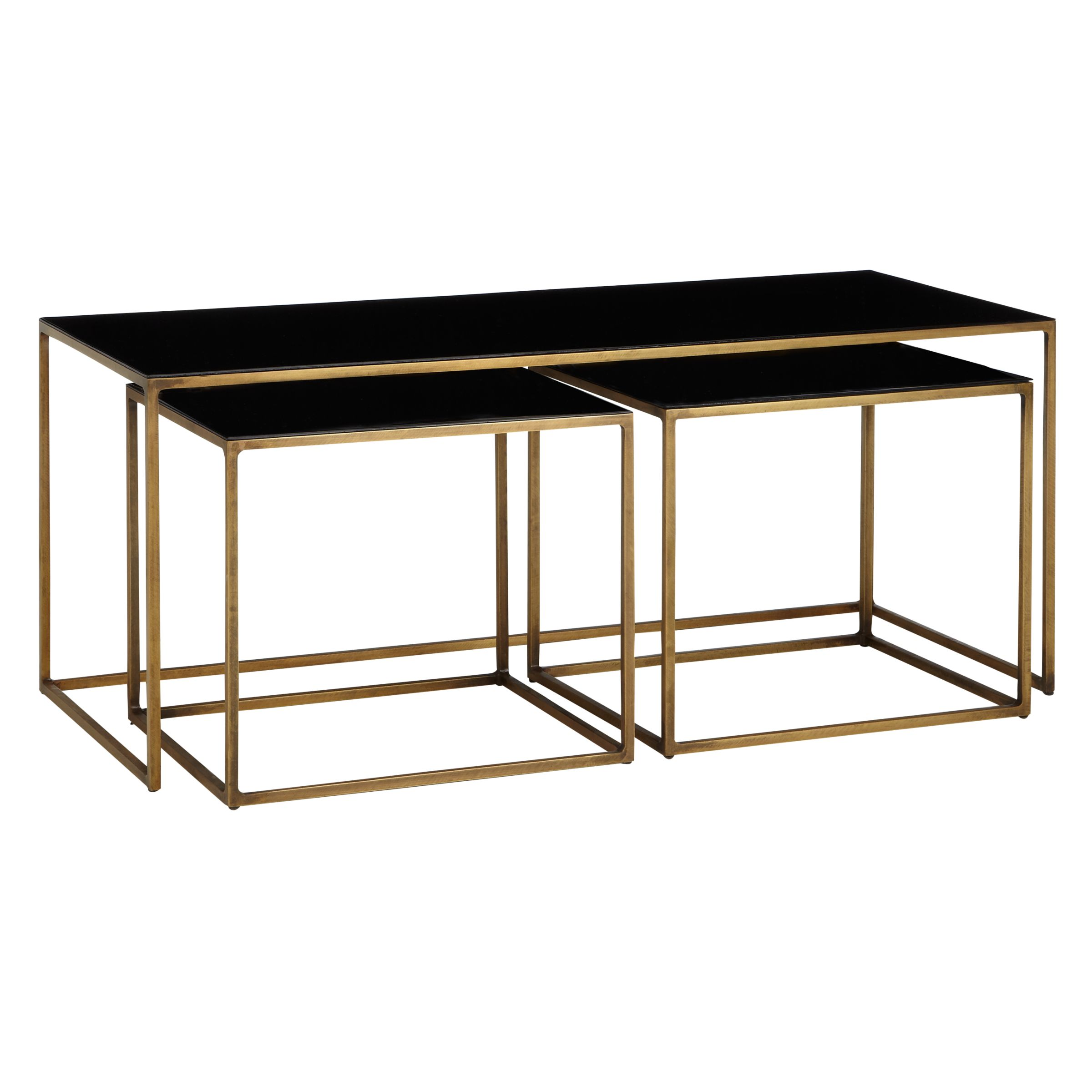 Content by Terence Conran Content by Terence Conran Coffee Black Enamel Table and 2 Side Tables