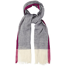 Buy White Stuff Herringbone Border Scarf, Navy Online at johnlewis.com