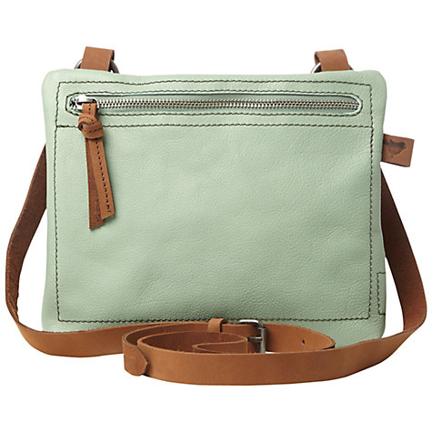 Buy White Stuff Cindy Leather Across Body Bag, Willow Green Online at johnlewis.com