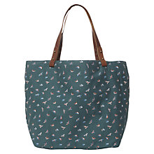 Buy White Stuff Canvas Printed Shopper, Ocean Teal Online at johnlewis.com