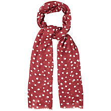 Buy White Stuff Shadow Spot Print Scarf, Rosewood Online at johnlewis.com