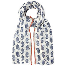 Buy White Stuff Paisley Selvedge Scarf, Off White Online at johnlewis.com