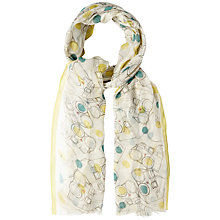 Buy White Stuff Camera Print Scarf, Natural Online at johnlewis.com