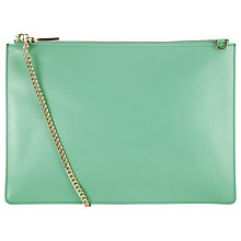 Buy Whistles Rivington Clutch Handbag, Pale Green Online at johnlewis.com