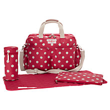 Buy Cath Kidston Spot Changing Bag & Accessories, Pink Online at johnlewis.com