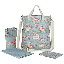 Buy Cath Kidston Rose Fold-Over Changing Bag & Accessories, Blue Online at johnlewis.com