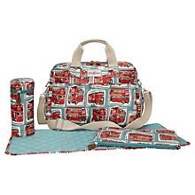 Buy Cath Kidston London Bus Changing Bag & Accessories, Red/Blue Online at johnlewis.com
