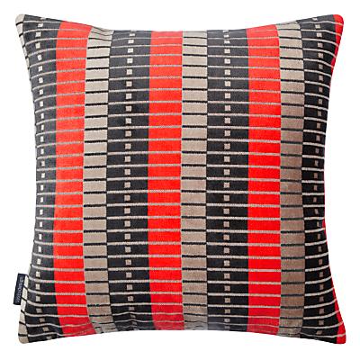 Image of Kirkby Design by Romo Marylebone Cushion, Neo Orange