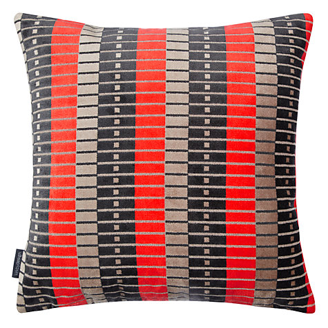 Buy Kirkby Design by Romo Marylebone Cushion, Neo Orange Online at johnlewis.com