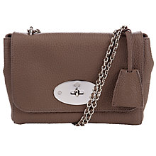 Buy Mulberry Lily Small Leather Shoulder Bag, Taupe Online at johnlewis.com