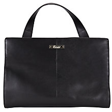 Buy Somerset by Alice Temperley Orleton Leather Grab Bag, Black Online at johnlewis.com