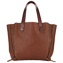 Buy Collection WEEKEND by John Lewis Roden Medium Zip Leather Tote Bag, Tan Online at johnlewis.com