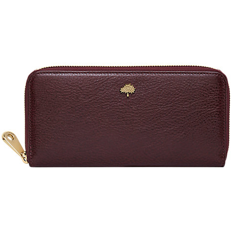 Buy Mulberry Tree Zip Around Wallet, Poppy Red Online at johnlewis.com
