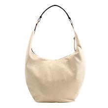Buy Collection WEEKEND by John Lewis Large Bailey Leather Hobo Bag, Cream Online at johnlewis.com