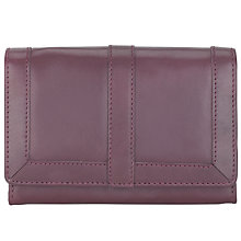 Buy John Lewis Leather Medium Flapover Purse Online at johnlewis.com
